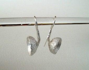 Silver Acorn Earrings Sterling Silver Earrings Cast From Natural Acorn