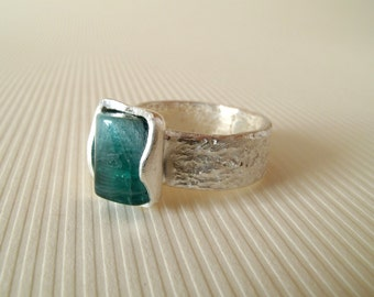 Tourmaline Ring Sterling Silver Ring With Natural Tourmaline No 3 // Made In Your Size