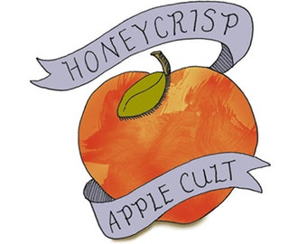 Apple Temporary Tattoo - Honeycrisp Apple Cult - Foodietoos - Foodie Tattoos