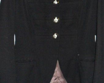 Steampunk Military Navy Blue Dress Jacket- Medical Corps.
