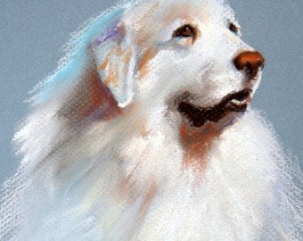 "11x14"" Custom Dog Portrait Painting Pet Pastel Art"