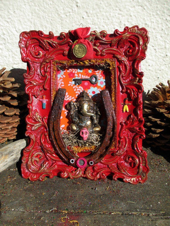 Rita's Ganesh Altar Shrine - Obstacle Remover, Wisdom, Luck, Fortune, Open Doors