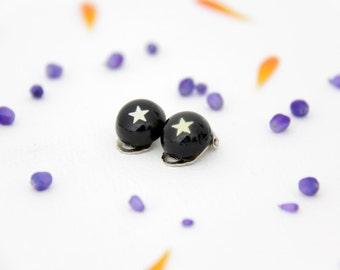 Vintage clip on star earrings