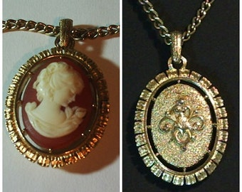 Vintage Two Sided Pendent