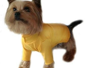 Yellow Dog Turtleneck Shirt Size XXXS through Medium by Doogie Couture