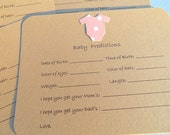 Baby Shower Games, Baby Prediction Cards, Baby Shower, Baby Shower Advice Cards, Baby Onesie Cards ,  KBPCO