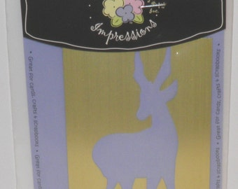 ON  SALE  Jack Frost Reindeer Embossing Template
