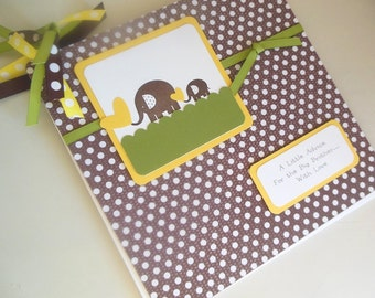 Baby Shower Advice Book, Journal, Memory Book, Pregnancy Journal or keepsake, Brag Book