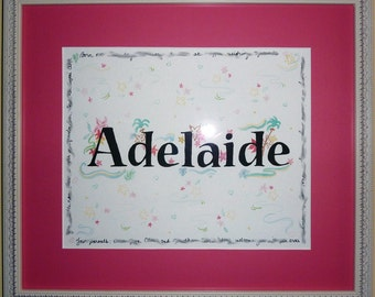Decorative, hand-made Baby Name Painting