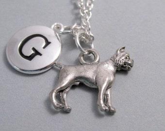 Boxer Dog Charm Silver plated boxer dog charm Charm Supplies Supplies