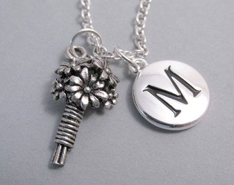 Flower girl Flower Bouquet Charm silver plated charm jewelry Supplies