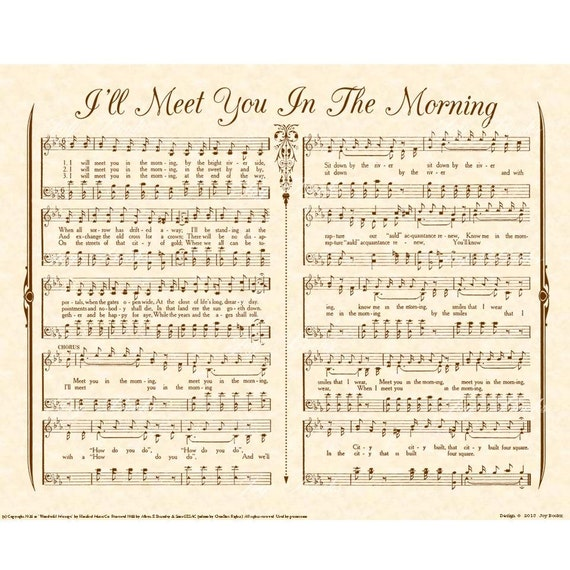 I Ll Meet You In The Morning Custom Christian Home Decor