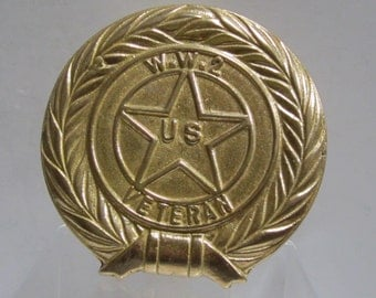 W.W.2 US Veteran Brass Plated Plaque