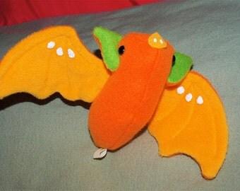 Fruit Bat Plushie - Mandarin Orange