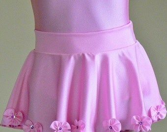 Dancewear. Nylon Spandex Pull-on Dance Skirt. Toddlers Girls Dance Skirt.  MORE COLORS.  Sizes  2T - Girls 12
