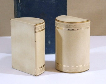 Vintage Bookends, Faux Leather Bookends