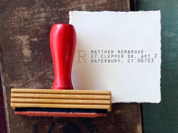 Custom Return Address Stamp // ARCHIVE // typeset