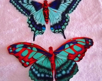 X Large BUTTERFLY  fabric appliques #6