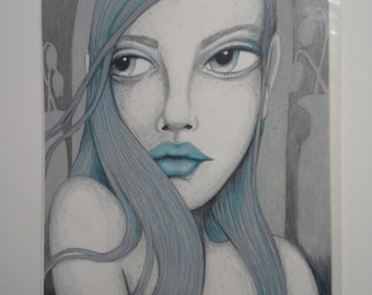 Ghost Girl Prismacolor Pencil Drawing