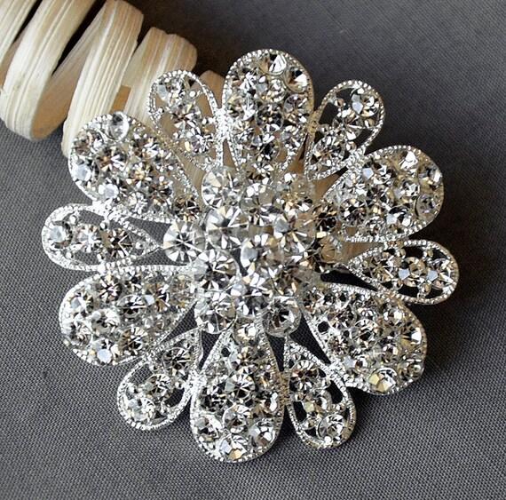 Rhinestone Brooch Crystal Brooch Wedding Brooch Bouquet Cake Invitation Decoration Hair Comb Shoe Clip Pendant BR004