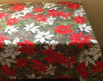 Lovely Poinsettia Tablecloth