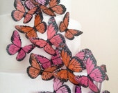 new BUY 45 get 6 FREE precut edible butterflies - butterfly decoration - edible cake decoration by Uniqdots on Etsy