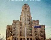 Art Deco, Architecture, Buffalo City Hall,  Color, Square print, urban, western ny, Erie county, cities
