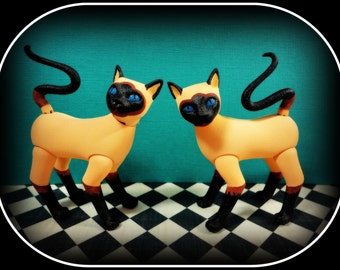 Mary Magpie fashion art Doll pet Kitty Cat custom order siamese