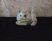 1940s/ 50s Sugar Christmas Kitten Figurine