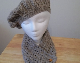Wool Beret and Scarflette
