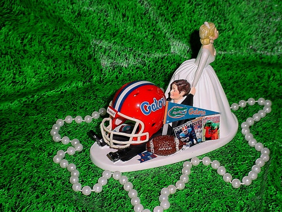 florida gator wedding cake toppers florida gator groom sports fan wedding cake topper 14326