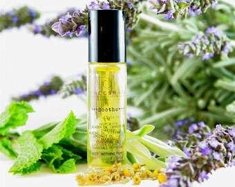 Soothe Roll-On Body Oil - Headache Aromatherapy Oil - Natural Remedy - Gifts Under 15 - Holistic - Stocking Stuffer - Secret Santa