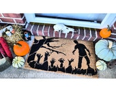 ZOMBIE doormat spooky awesome graveyard