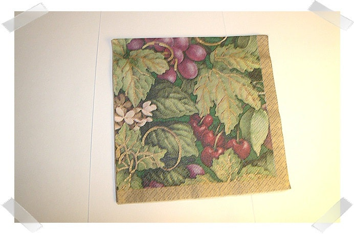 Paper napkin for decoupage grapes craft supplies for Buy grape vines for crafts