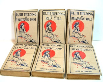 Antique Ruth Fielding Book Collection, Books For Girls, Home Decor, Book Bundle