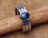 Azurite / Malachite Stacked Rings