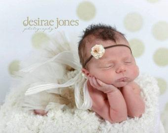 Baby headband,Petite flower headband,Flower headband,Newborn Headband,Infant Headband,Baby girl Headband,Photo Prop,Mercy Headband