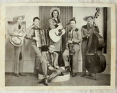 1940s Country Western Music Hillbilly Band Photo - Uncle Jack and Mary Lou - Shorty Long - 10 x 8