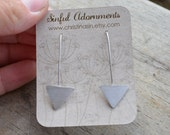Sterling Silver Arrow Forged Earrings