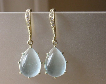 Scalloped Clouds in Gold Earrings