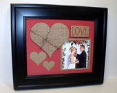 SALE Valentine's Day Photo Mat - Unframed Insert for 8x10 Picture Frame to display a 4x4 Photo