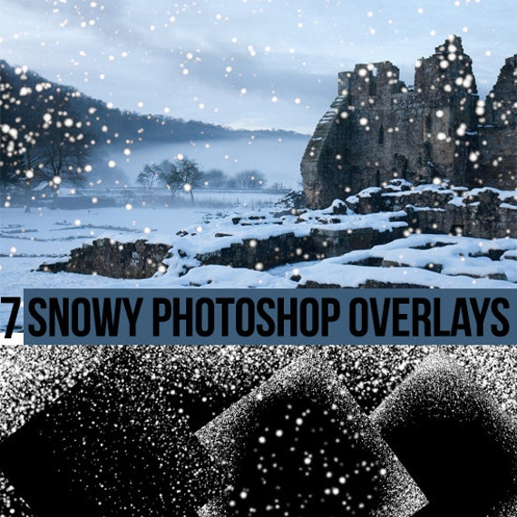 Snow effect overlays for photographs and digital arts > Falling Snow Effect Digital Papers