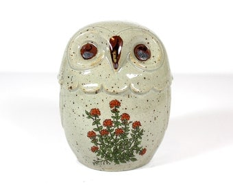 Vintage Owl Pottery Bank