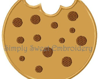 Chocolate Chip Cookie Applique Machine Embroidery Design