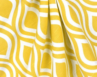Yellow Table Runner Modern Wedding Table Centerpiece Geometric Linens Custom Table Decoration Shower Reception