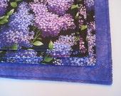 Purple Lilac Placemats Reversible Rectangle Placemats Purple Placemats Lilac Placemats Purple and  Black Placemats