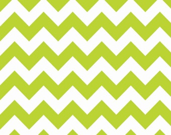 Hollywood Sparkle by Riley Blake Lime Medium Chevron Cotton Fabric SC320-32 Lime