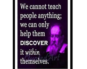 Galileo Galilei Quoted Art print
