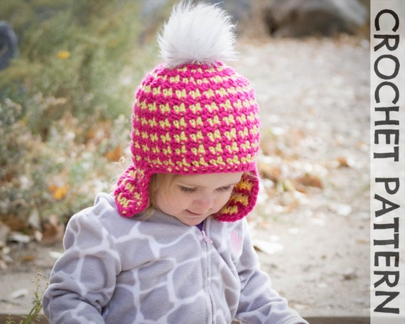 Free Crochet Pattern Houndstooth Hat : CROCHET HAT PATTERN Kids Reversible Houndstooth Beanie