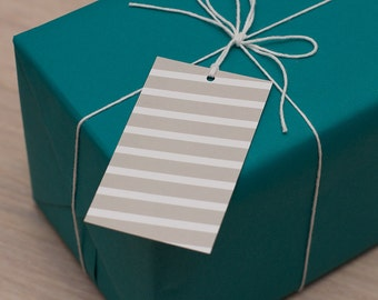bold stripe gift tags